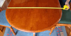 length across table