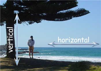 definition of horizontal