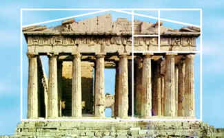 parthenon golden ratio